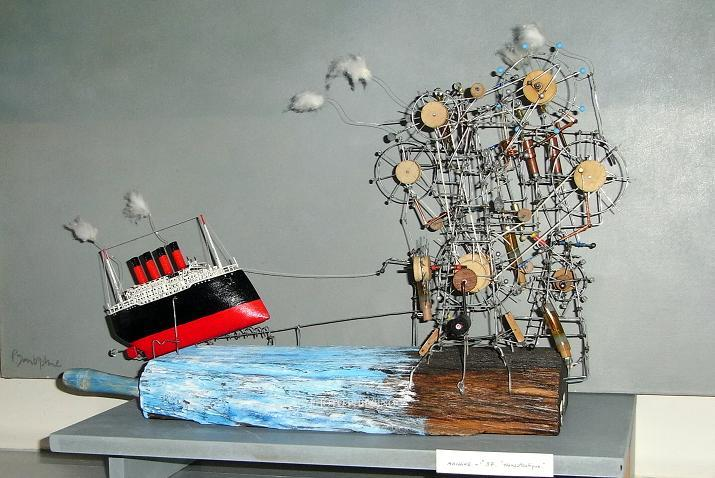 Les extravagantes machines de Philippe Le Gall dans AUTOMATES AUTOMATA titanicphlegall